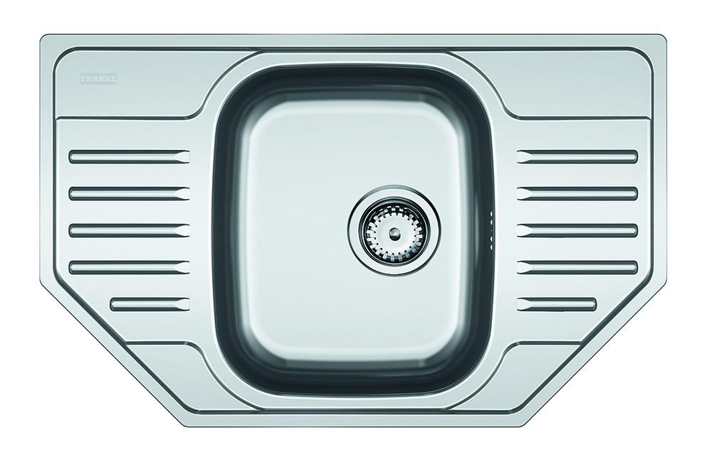 Rovný Franke - drez nerez PXN 612-E 3 1/2, 780x490 mm (strieborná)