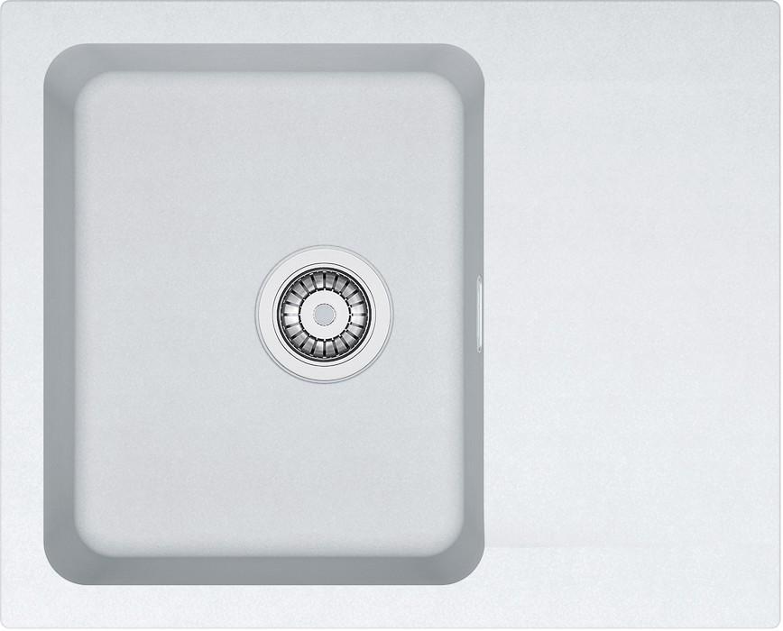 Rovný Franke - drez Tectonite OID 611-62, 620x500 mm (biela)