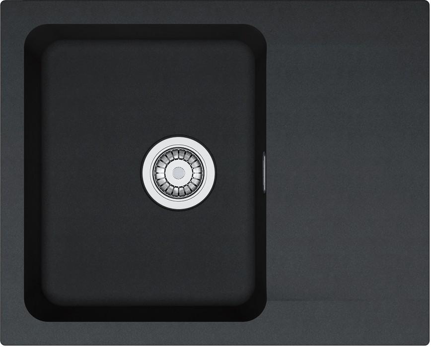 Rovný Franke - drez Tectonite OID 611-62, 620x500 mm (čierna)