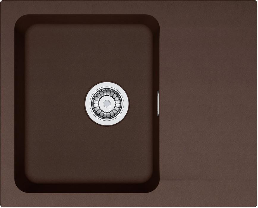 Rovný Franke - drez Tectonite OID 611-62, 620x500 mm (hnedá )