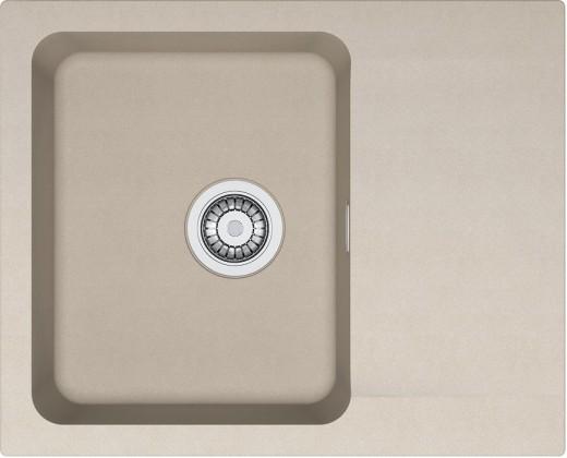 Rovný Franke - drez Tectonite OID 611-62, 620x500 mm (kávová)