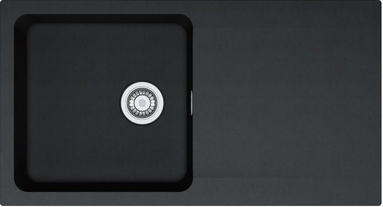 Rovný Franke - drez Tectonite OID 611, 940x510 mm (čierna)