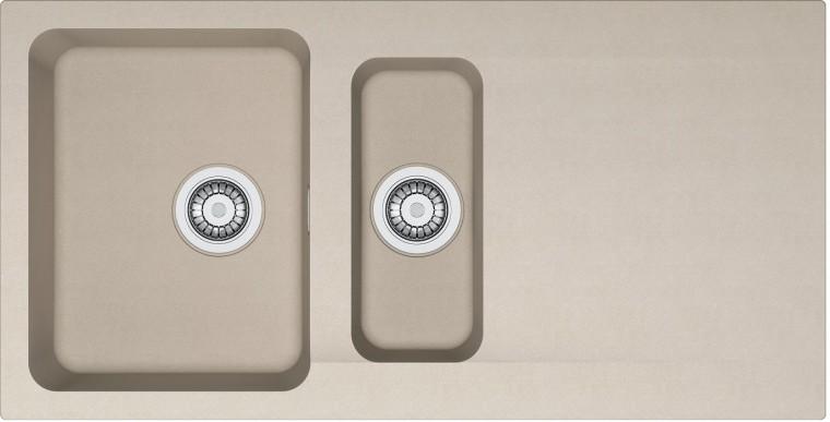 Rovný Franke - drez Tectonite OID 651, 1000x510 mm (kávová)