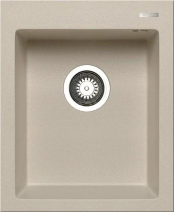Rovný Istros - Granitový drez 41x50, 1B, béžová