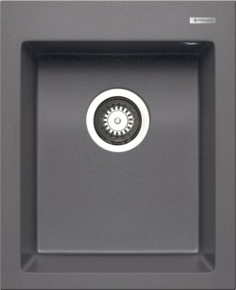 Rovný Istros - Granitový drez 41x50, 1B, sivá