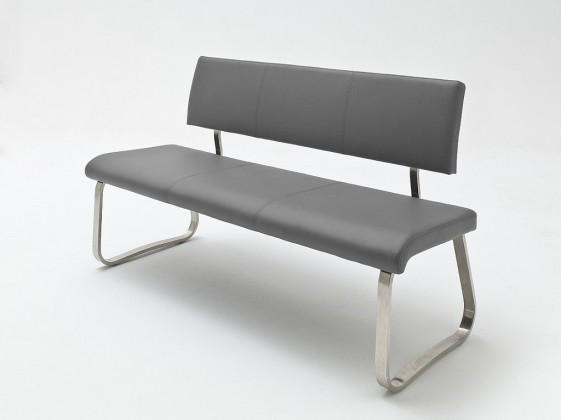 Rovný Jedálenská lavica Lucile sivá