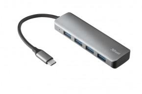 Rozbočovač Trust Halyx, USB, 4 porty, rýchlosť až 5 Gbps