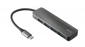 Rozbočovač Trust Halyx, USB-C, 4 porty, rýchlosť až 5 Gbps