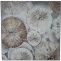 Ručne maľovaný obraz na stenu Circles (80x80 cm)