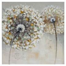 Ručne maľovaný obraz na stenu Dandelion 2 (60x60 cm)