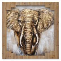 Ručne maľovaný obraz na stenu Elephant (100x100 cm)