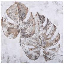 Ručne maľovaný obraz na stenu Leaves (60x60 cm)