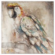 Ručne maľovaný obraz na stenu Parrot (100x100 cm)