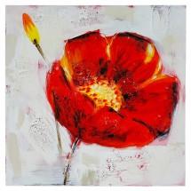 Ručne maľovaný obraz na stenu Poppy (60x60 cm)