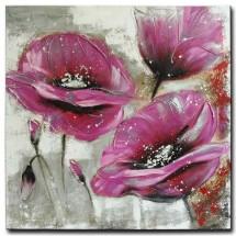 Ručne maľovaný obraz na stenu Purple flower (100x100 cm)