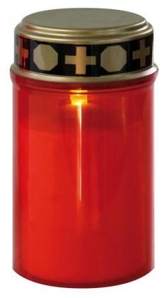 Ručné svietidlá  Hřbitovní svíčka nízká, červená LED