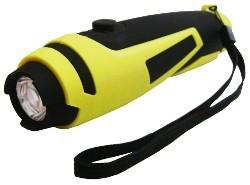 Ručné svietidlá LED svítilna (S-2062) pogumovaná 1W 3xAAA s poutkem