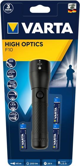 Ručné svietidlá Ručné svietidlo Varta Flashlight Led High Optics 18810, LED