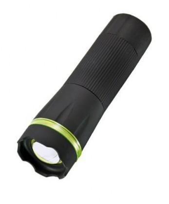 Ručné svietidlá Solight pogumované svietidlo 1W LED čierna fokus 3xAAA WL07A