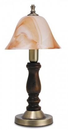 Rustic - Lampička, E14 (hnedá/oražovo alabastrová)