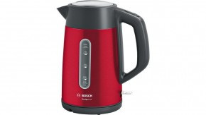 Rýchlovarná kanvica Bosch TWK4P434, červená, 1,7l