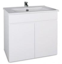 Saint-Lo - Skrinka s umývadlom 60 cm (biela vysoký lesk)