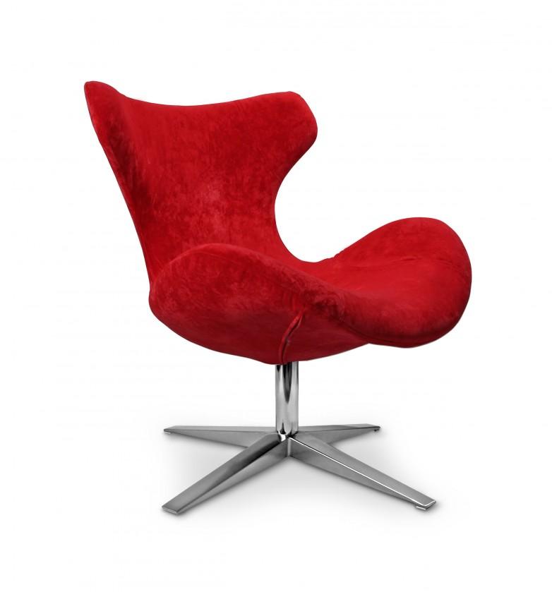 Samostatné kreslo Blazer - Kreslo (látka červená/noha chrom)