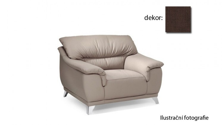 Samostatné kreslo Dunja - kreslo (carezza - chocolate B138, sk. AS)