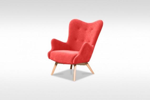 Samostatné kreslo Moderné kreslo Glamour červená