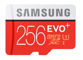 Samsung EVO Plus microSDXC 256GB + adaptér, MB-MC256DA/EU