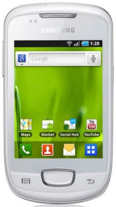 Samsung Galaxy mini (S5570i), biely