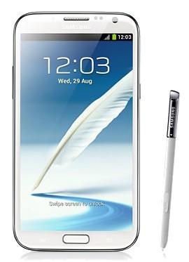 Samsung Galaxy Note II (N7100), biely