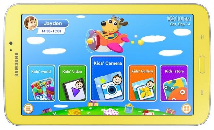 Samsung Galaxy Tab 3 Kids (SM-T2105), žltý