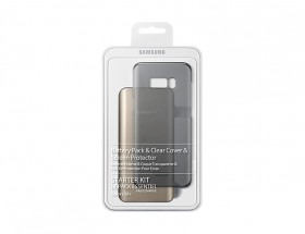 Samsung Kit (BatteryPack+ClearCover) pro S8+ Black