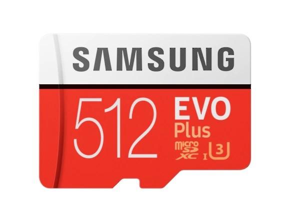 Samsung Micro SDXC karta 512GB EVO Plus + SD adaptér