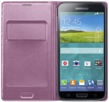Samsung puzdro s vreckom pre Samsung Galaxy S5, ružová