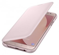 Samsung Wallet Cover J7 2017,  pink