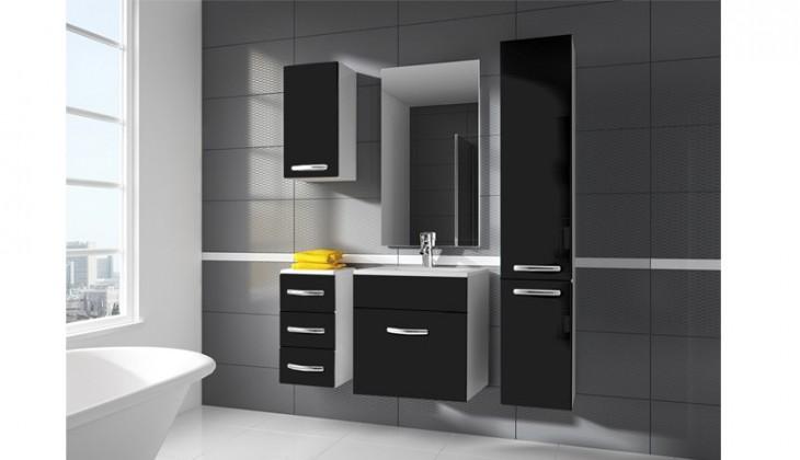 San Marino - kúpeľňová zostava s umývadlom (čierna)