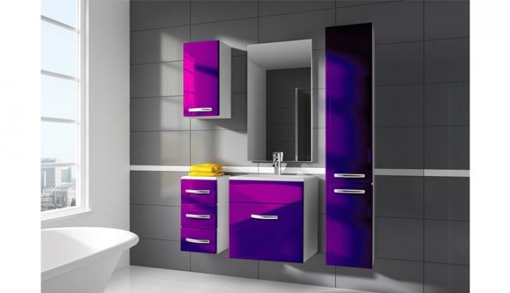 San Marino - kúpeľňová zostava s umývadlom (fialová)