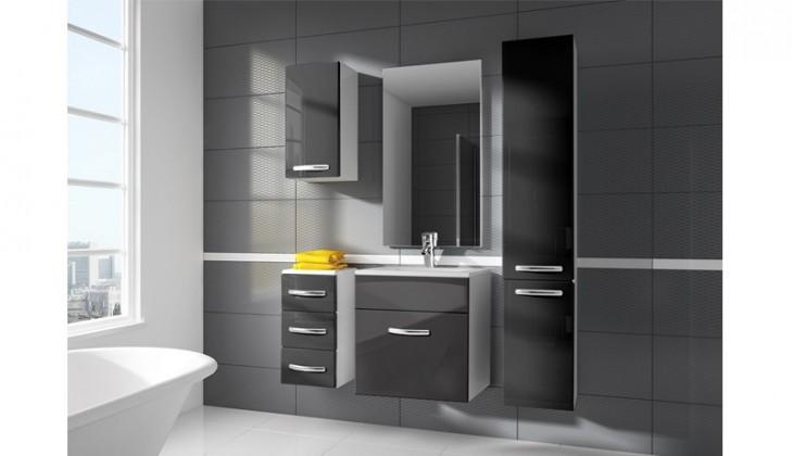 San Marino - kúpeľňová zostava s umývadlom (sivá)