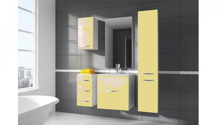 San Marino - kúpeľňová zostava s umývadlom (vanilková)
