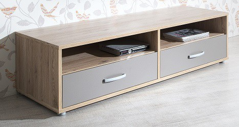 Sand - TV stolík, typ 48 (dub, čadičová sivá)