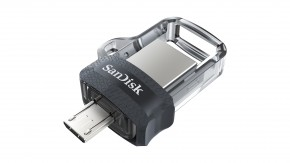 SanDisk Flash Disk 128GB Dual USB Drive m3.0 Ultra, OTG