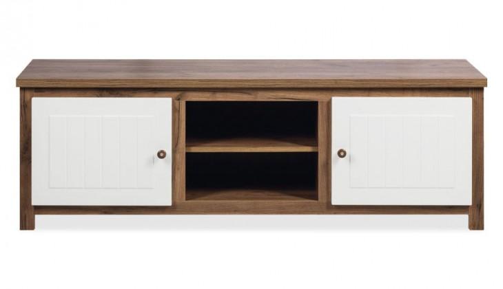 Santa - ST 1, TV stolík (dub/biela mat)