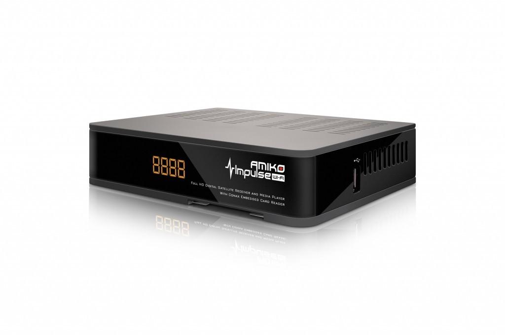 Satelitný prijímač Amiko Impulse SAT WiFi - DVB-S2 ROZBALENÉ