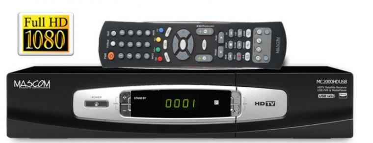 Satelitný prijímač  Mascom MC2000CRHDCI-USB