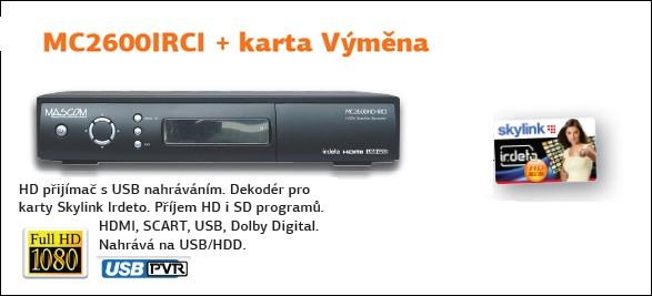 Satelitný prijímač  Mascom S-2600+VYMENA