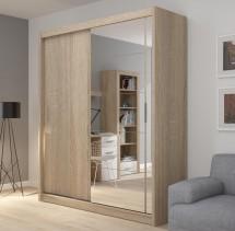 Šatníková skřiňa Miriam (180/216/61 cm, zrkadlo)
