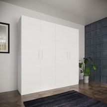 Šatníková skriňa Paluda - 205x204x52 cm (biela)