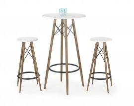 SB-10 - Barový stôl (biela, hnedá)